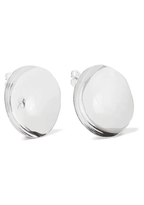 Closer By Wwake - Closer By Wwake Shallow Echo Silver Earrings - one size
