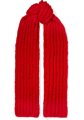 A.W.A.K.E. - Wool Scarf - Red