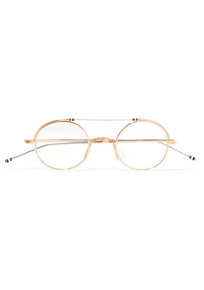 Thom Browne - Gold And Silver-tone Optical Glasses - one size