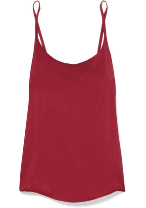 ASCENO - Washed-silk Camisole - Claret