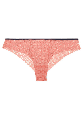 Eberjey - The Frilly Stretch-lace Briefs - Antique rose