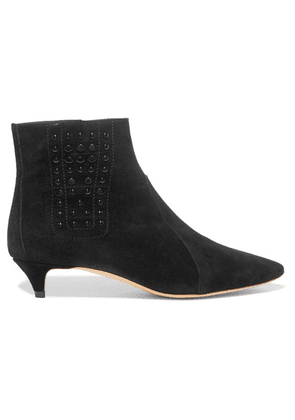 Tod's - Studded Suede Ankle Boots - Black