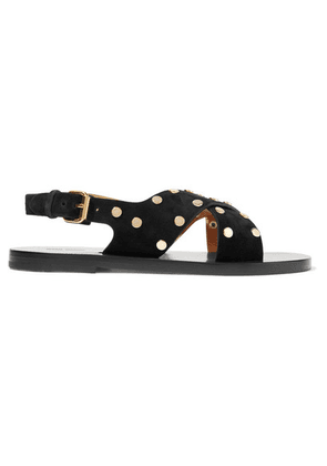 Isabel Marant - Jane Studded Suede Sandals - Black
