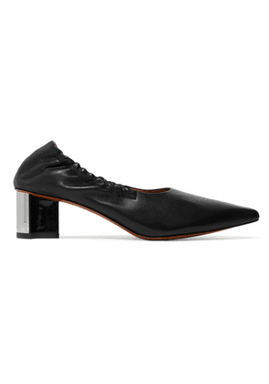 Clergerie - Solal Leather Collapsible-heel Pumps - Black