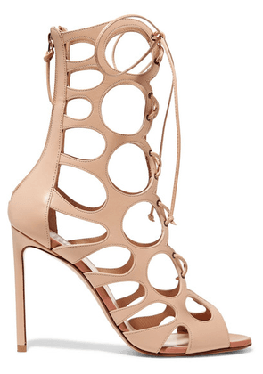 Francesco Russo - Cutout Leather Sandals - Beige