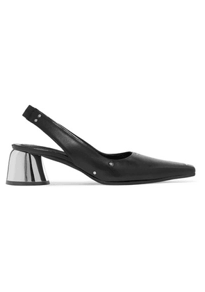 Ellery - Studded Leather Slingback Pumps - Black