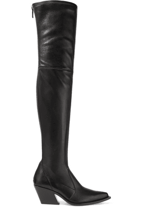 Givenchy - Leather Over-the-knee Sock Boots - Black