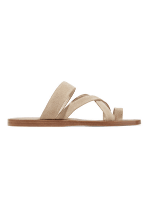 Common Projects - Suede Sandals - Beige