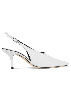 DORATEYMUR - Groupie Leather Slingback Pumps - White