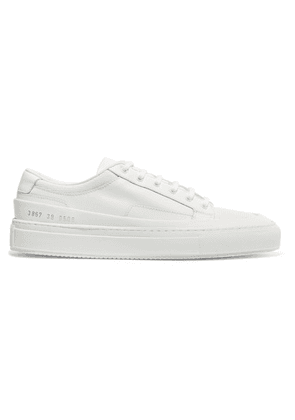 Common Projects - Achilles Super Leather And Canvas Sneakers - White