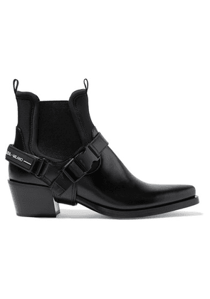 Prada - Leather And Neoprene Ankle Boots - Black