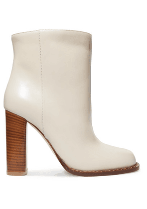 Marni - Leather Ankle Boots - White