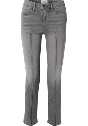 FRAME - Le High Straight-leg Jeans - Gray