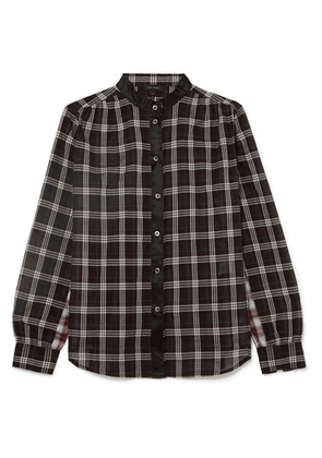 Marc Jacobs - Satin-trimmed Checked Cotton Shirt - Black
