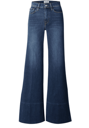 FRAME - Le Palazzo High-rise Wide-leg Jeans - Dark denim