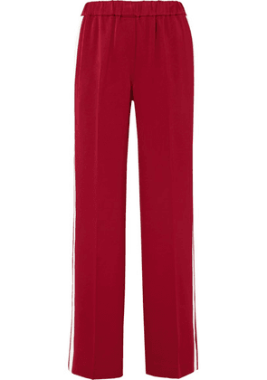 Elizabeth and James - Kelly Striped Crepe Track Pants - Red