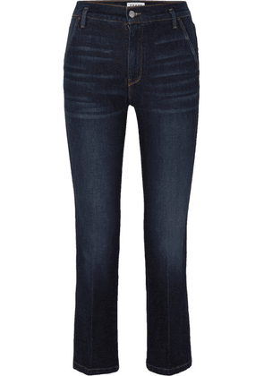 FRAME - Le Slender High-rise Straight-leg Jeans - Dark denim