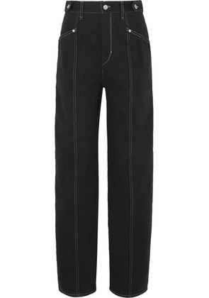 Isabel Marant - Genie Denim Straight-leg Pants - Black