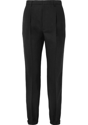 Prada - Wool And Mohair-blend Straight-leg Pants - Black