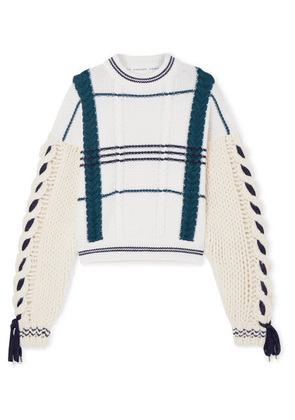 Carven - Cable-knit Wool And Alpaca-blend Sweater - Ecru