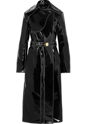 Ellery - Legion Belted Vinyl Trench Coat - Black
