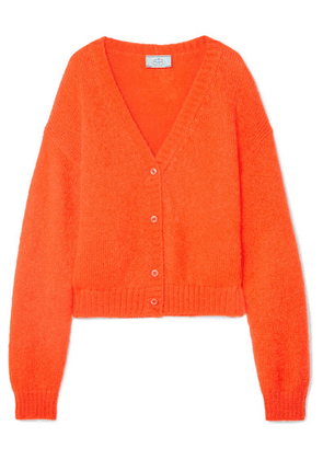 Prada - Cropped Mohair-blend Cardigan - Orange