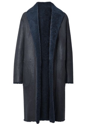 Akris - Trace Reversible Shearling Coat - Navy