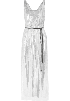 Marc Jacobs - Sequined Silk-crepe Midi Dress - Silver