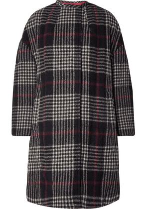 Isabel Marant - Harrison Oversized Plaid Wool Coat - Midnight blue