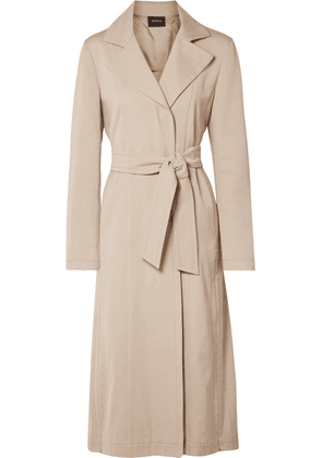 Akris - Teri Belted Cotton And Silk-blend Coat - Beige