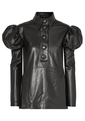 Ellery - Breuer Leather Shirt - Black