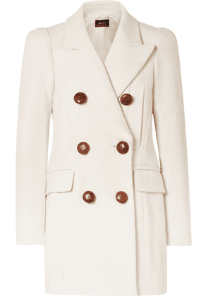 Isabel Marant - Klea Double-breasted Cotton-blend Twill Coat - Ecru