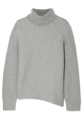 Cédric Charlier - Ribbed Wool And Cashmere-blend Turtleneck Sweater - Gray
