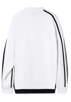 Y/PROJECT - Oversized Layered Cotton-jersey Sweatshirt - White