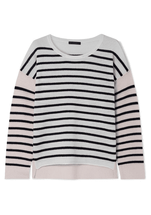 ATM Anthony Thomas Melillo - Color-block Striped Cashmere Sweater - Cream