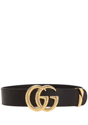 50mm Gg Snake Buckle Leather Belt
