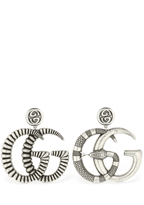 Mismatched Gg Marmont Enemeled Earrings