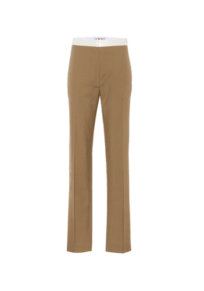 Wool high-rise pants