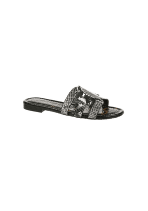 Bay Exotic Leather Sandals - Black & White