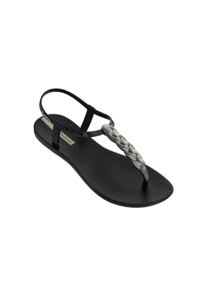 Charm Braided Sandal 21 - Black