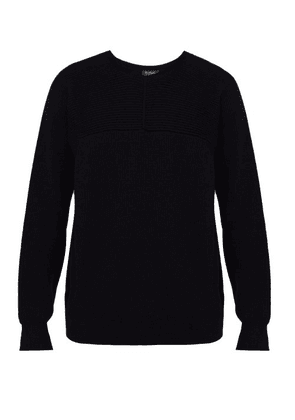 Berluti - Wool, Silk And Cashmere Blend Ribbed Sweater - Mens - Navy