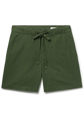 Chimala - Cotton-jacquard Drawstring Shorts - Dark green