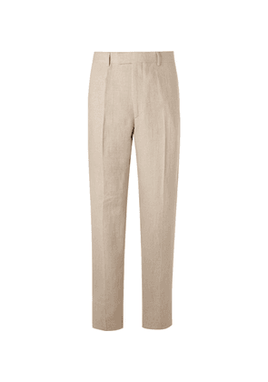 Favourbrook - Stone Evering Linen Suit Trousers - Off-white