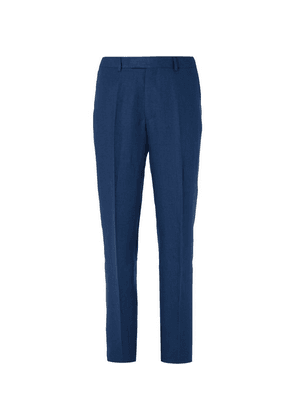 Favourbrook - Navy Evering Linen Suit Trousers - Navy