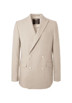Favourbrook - Stone Evering Double-breasted Linen Suit Jacket - Off-white