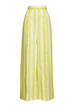 Escada Striped Wide Leg Pants in Linen and Cotton