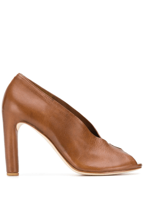 Del Carlo peep-toe pumps - Brown