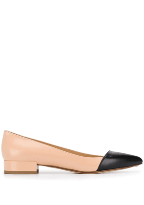 Francesco Russo pointed ballerina shoes - Pink