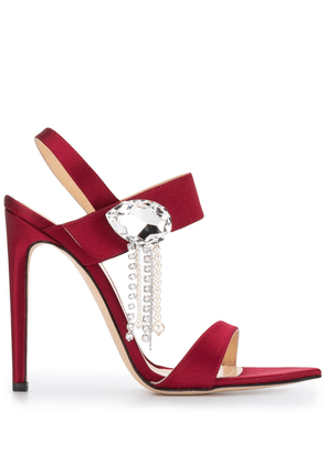 Chloe Gosselin embellished pumps - Red