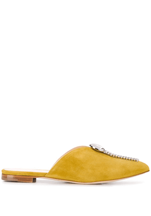 Chloe Gosselin Maya crystal-embellished mules - Yellow